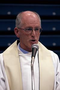 John Walls preaching at Marist College, Atlanta.