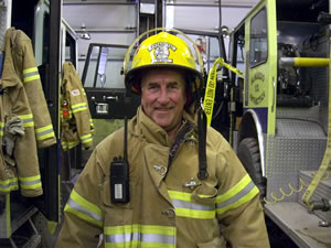 Phil Cody, honorary fireman and resident chaplain at McMurdo Station, Antarctica.