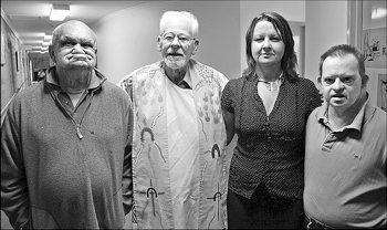 Bern Ryan with John Roberts, Roslyn Chapman and Michael Doyle at Booroongen Djugun Aged Care Facility